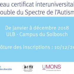 Certificat interuniversitaire du Spectre de l'Autisme ACTE - Autisme en Contexte