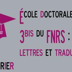Séminaire doctoral interuniversitaire sciences du langage - Ecole doctorale ED 3bis du FNRS