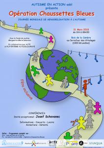 ACTE opération chaussettes bleues journée mondiale de sensibilisation à l'autisme
